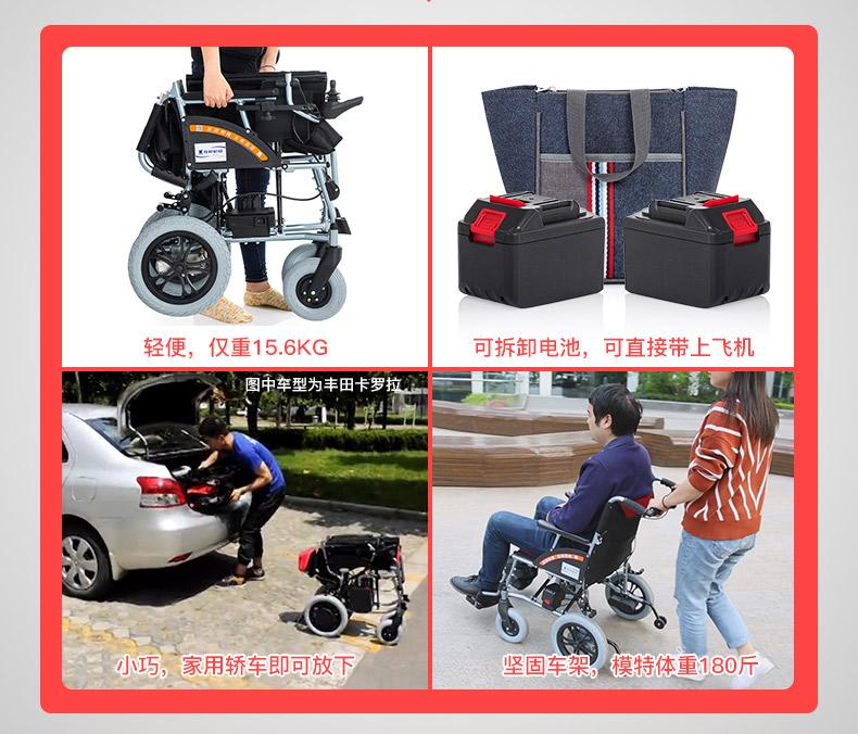 互邦HBLD3-B电动轮椅折叠效果图