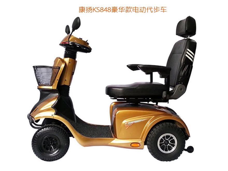 康扬KS848老年电动代步车,巨无霸豪华越野款老年代步车侧面效果图