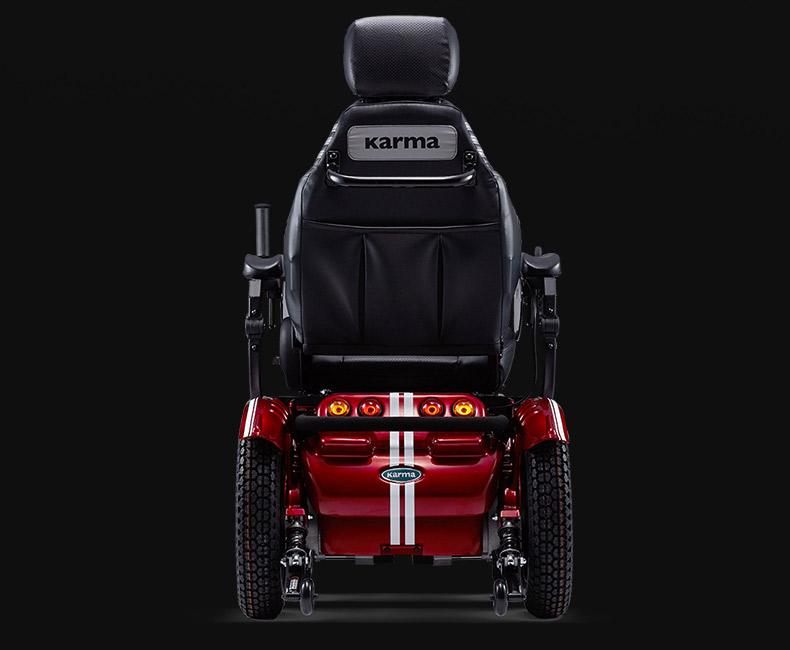 康扬KP45.3电动轮椅红色款背面图