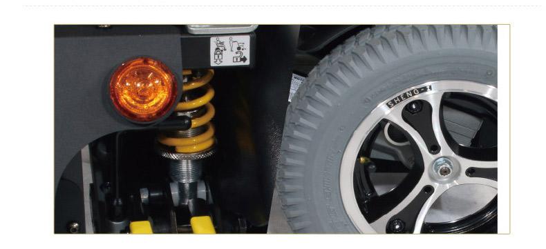 康扬电动轮椅KP31T独立悬挂式减震器图片