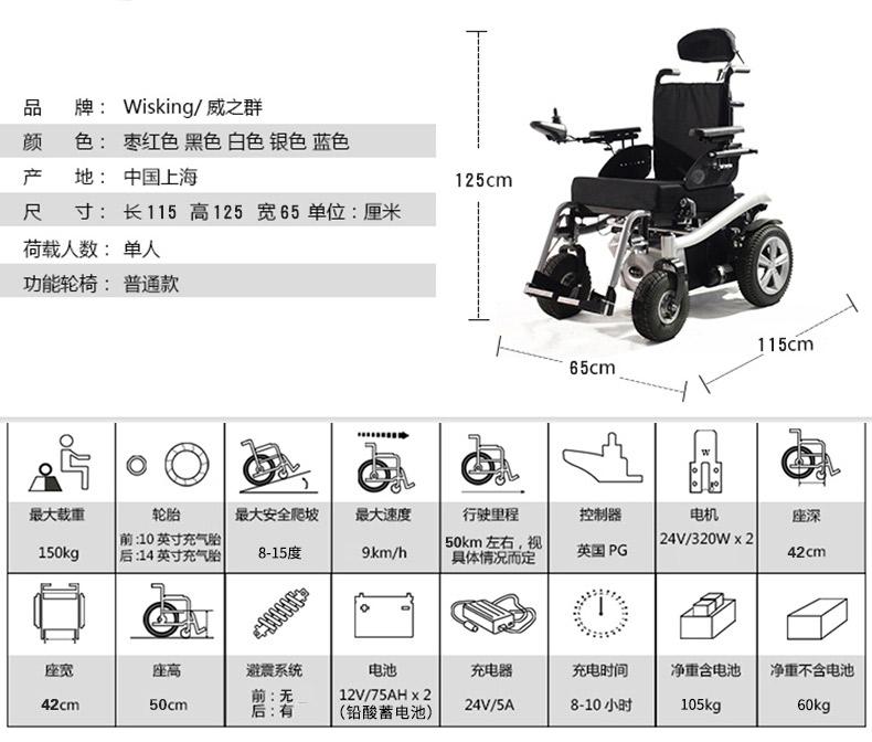 威之群电动轮椅1023-36参数