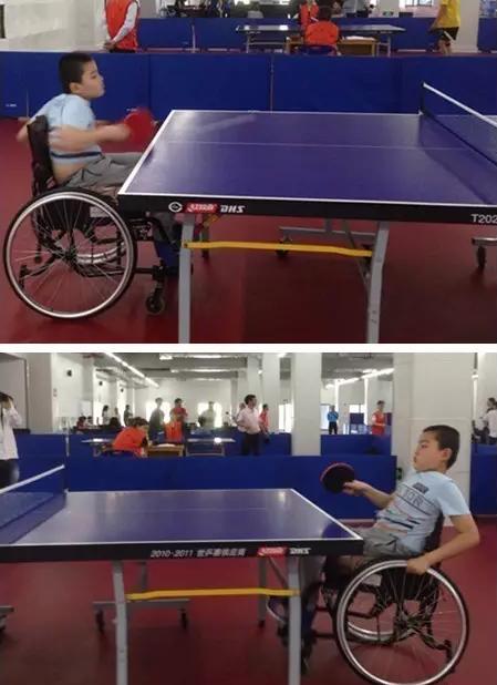 10岁小孩轮椅乒乓球精彩表演