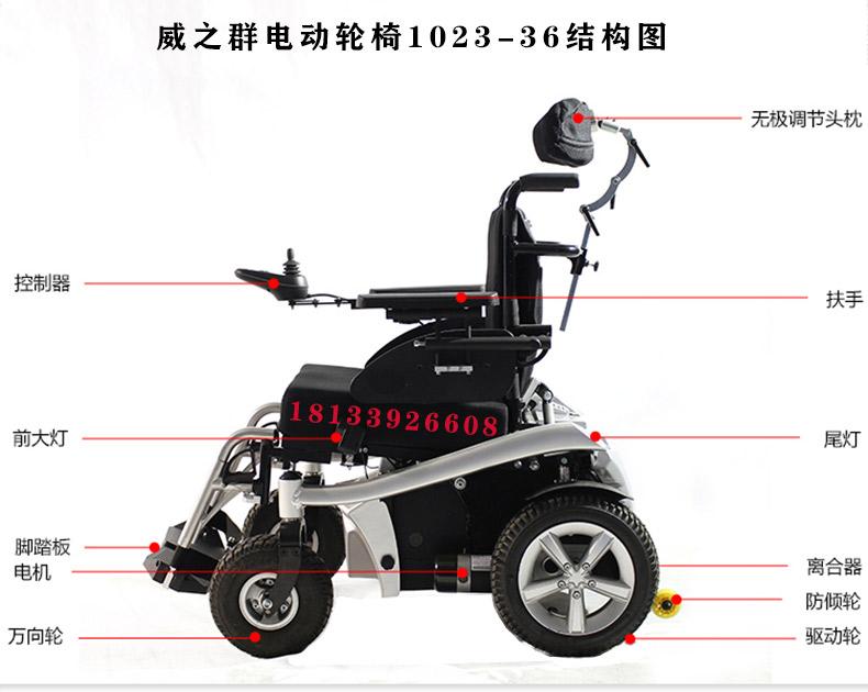 威之群电动轮椅1023-36结构图