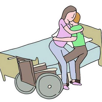 瘫患病人床与轮椅间的转移技巧