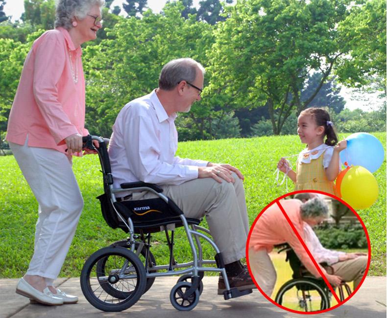 康扬轮椅KM2501超轻折叠便携式轮椅
