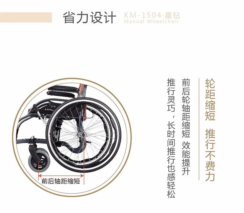 康扬KM1504轮椅省力设计