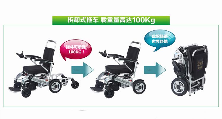 轻便折叠老人残疾人电动轮椅车