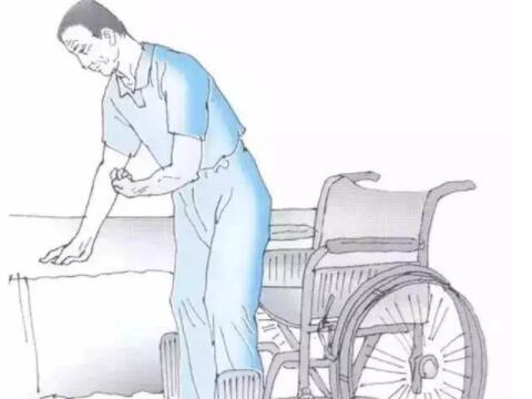 床跟轮椅之间的转移方法及注意事项