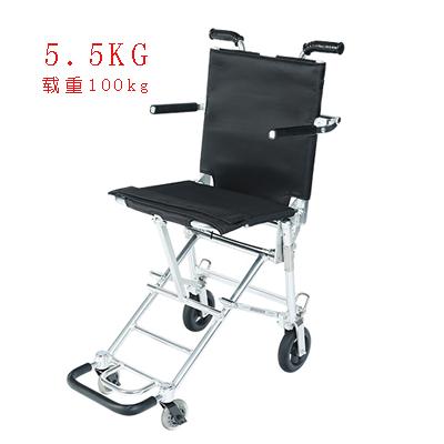 中进轮椅NA207超轻5.5kg折叠老人残疾人可上飞机轮椅车