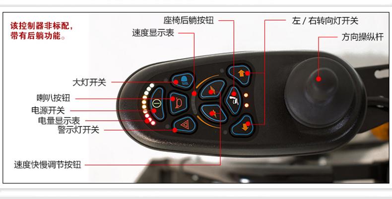 威之群电动轮椅1023-36控制器