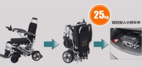 残疾人电动轮椅双人折叠价格及图片
