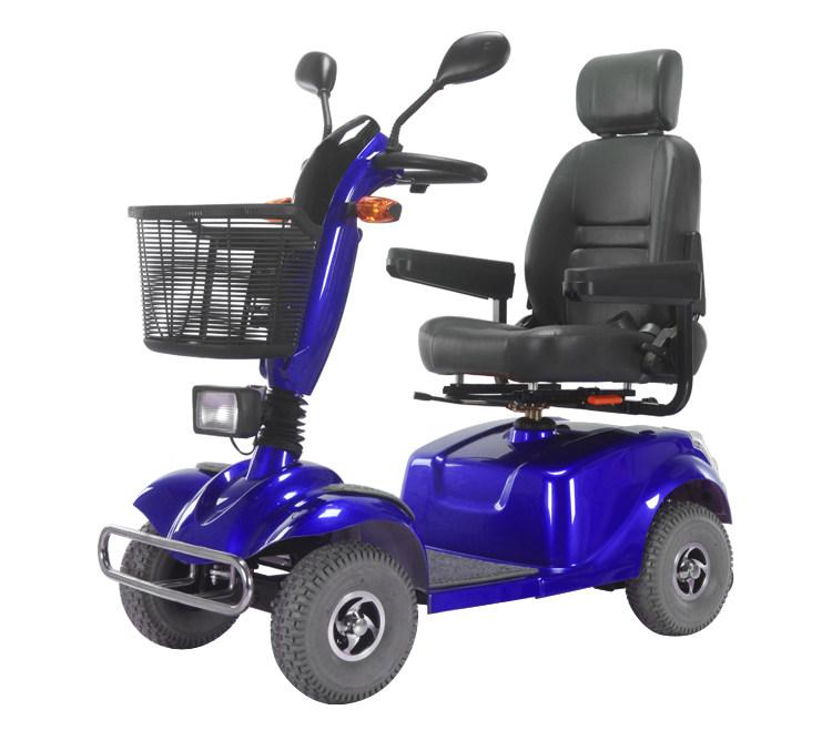 金百合DB-12电动代步车蓝色款侧面图