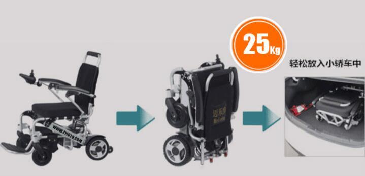 旅游用的小型折叠轮椅