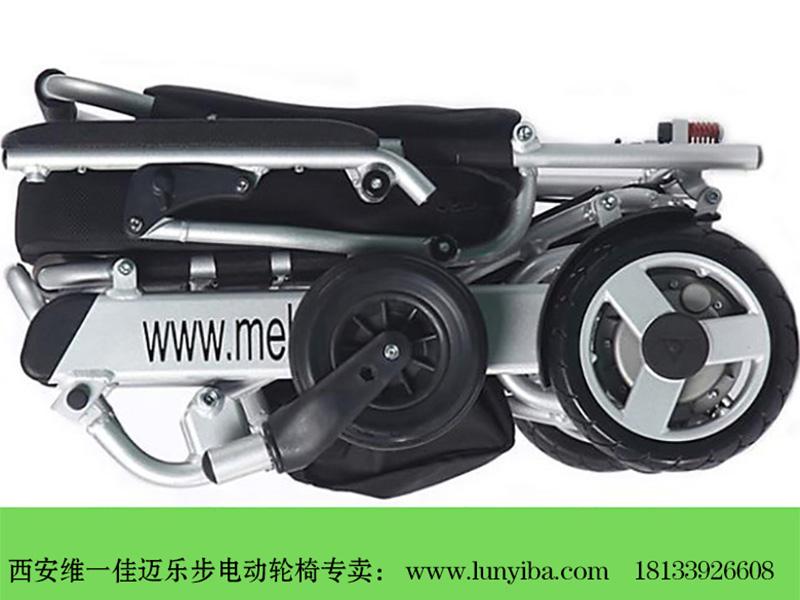 迈乐步电动轮椅A06款折叠效果图
