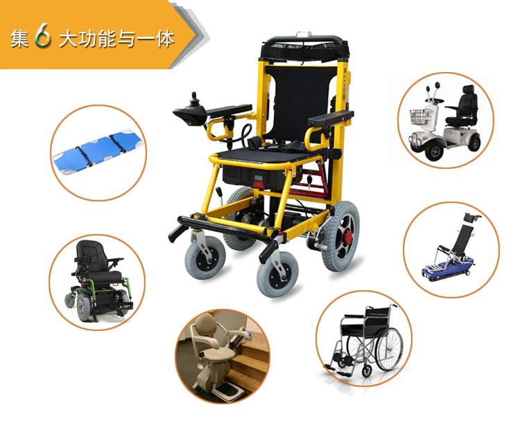电动爬楼轮椅集六大功能于一体