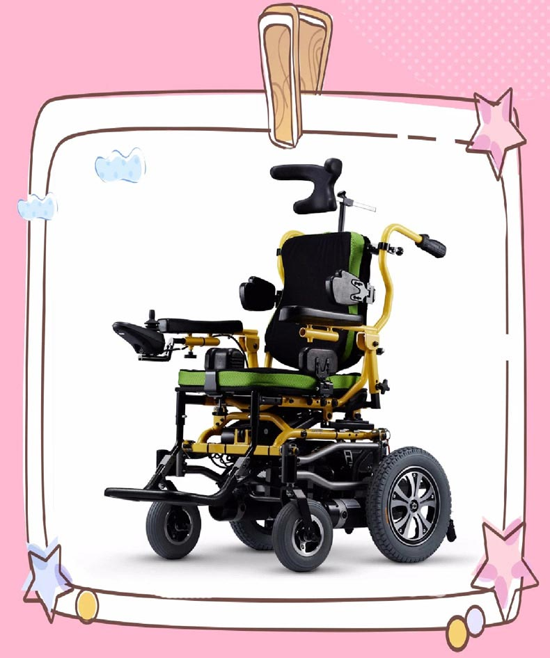康扬KP-12T儿童电动轮椅侧面图