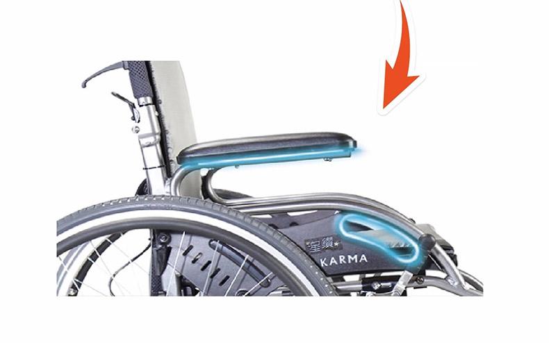 康扬KM1504轮椅人体工学扶手