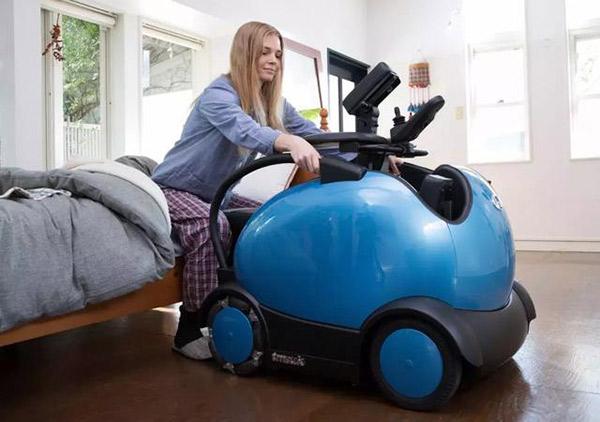 颠覆传统的可以骑行的智能残疾人电动轮椅