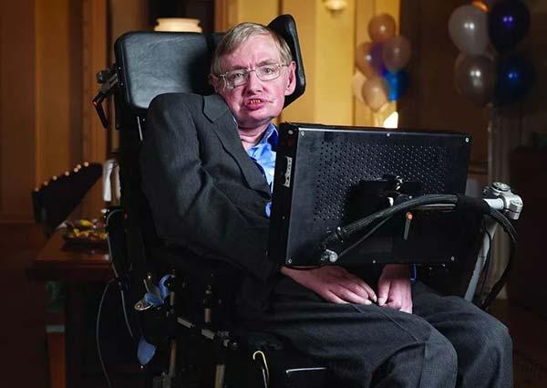 电动轮椅上的霍金