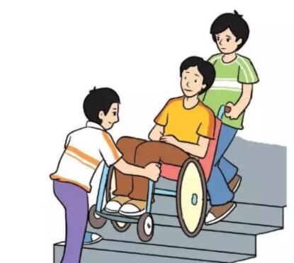 普通轮椅上楼梯的方法怎样能上楼梯