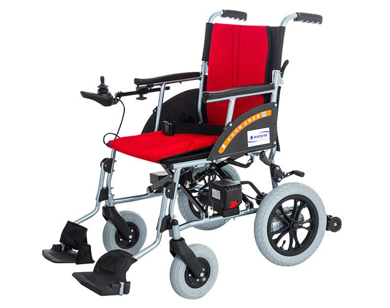 互邦HBLD3-B电动轮椅单控款侧面图