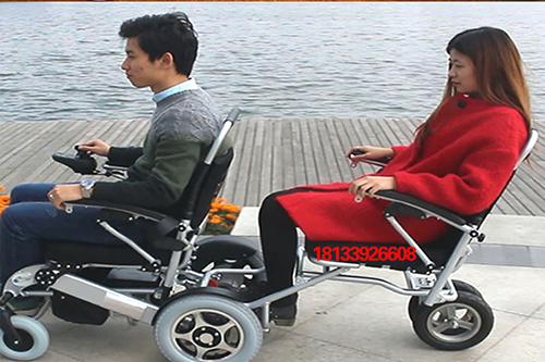 迈乐步电动轮椅A08L款加装拖椅效果图