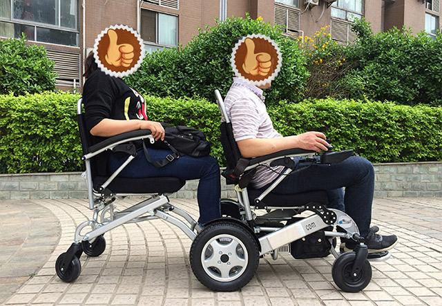 折叠便携式双人电动轮椅