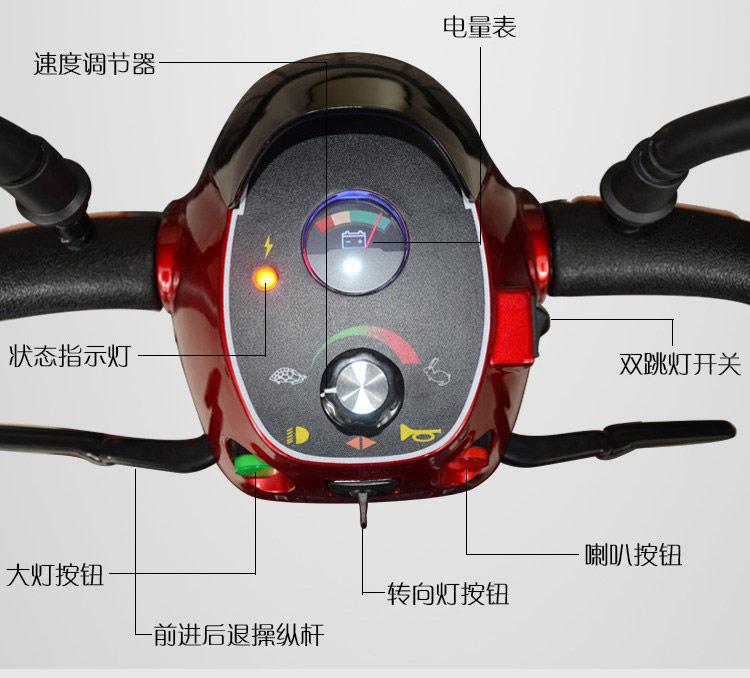 金百合DB-12电动代步车控制面板示意图