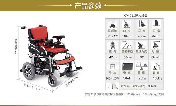 康扬电动轮椅KP25.2参数