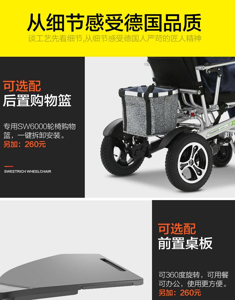 斯维驰电动轮椅车SW6000Z购物筐设计