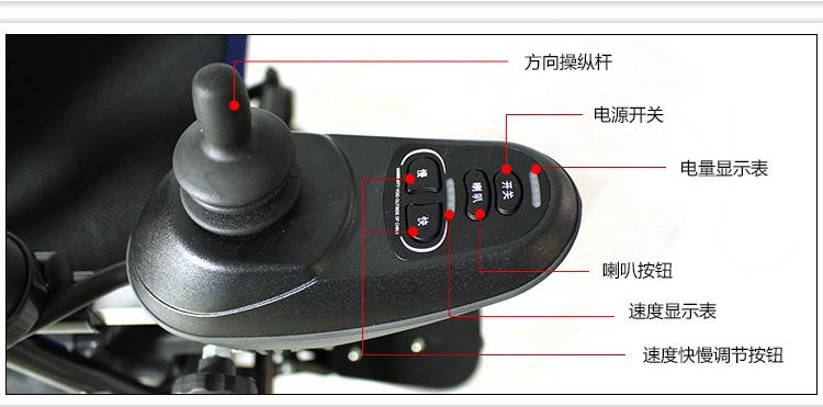 威之群电动轮椅1023-16雨燕进口控制器图片